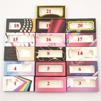 رمش تغليف مربع 3d المنك جلدة وهمية كاذبة الرموش الحالات الحالات أدوات التجميل مخصص علب هدية العين فارغة