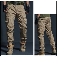 Men Outdoor Urban Tactical Pants Breathable Cotton Multi-Pocket Slim Climbing Pants Training Hiking Sports Stretch Trousers