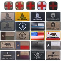 刺繍パッチ軍の頭蓋骨クロステキサス旗が来て、それを服用し、それをミリタリーモラールパッチ戦術的なアップリケエンブレム刺繍入りバッジ