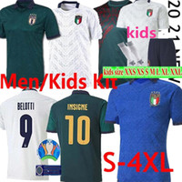 20 21 Italy soccer jersey VERRATTI INSIGNE Football Shirt TOTTI Fans Player Version Italy Maglia IMMOBILE PIRLO uniforms men + kids kit