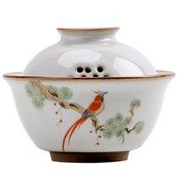رو فرن الطيور GARDON ل gaiwan الرجعية ثلاثة أشخاص pastrol الشاي السيراميك الاكسسوارات عاء سلطانية ديكور المنزل