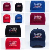 Donald Trump Chapéu de basebol da bandeira dos EUA Cap Trump 2020 Chapéus bordado 3D Letter Snapback para Party Supplies 5styles RRA3375