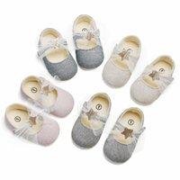 First Walkers Baby Girl Toddler Обувь сетка Лук Блестящий Сплошной Цвет Прекрасная Принцесса Стиль Весна и Лето 0-1 ЛЕТ