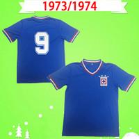 Cruz Azul 1973-1974 Rétro Soccer Jerseys Home Blue Classic 73/74 Vintage Shirts Football Haut Qualité