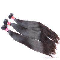 100% необработанные девственницы человеческие пакеты волос шелковистые прямые бразильские волосы расширения волос расширения уток 1OR2OR3OR4PCS / LOT Drop Shipping Bellahair