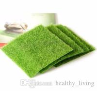 Artificial Grass falso Prato 49 * 70/30 * 30cm / 15 * 15cm Fairy Garden Gnome miniatura Moss terrario Decor Ornamento miniatura Giardino Dollhouse H230