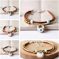 DHL epacket ship Small fresh and sweet bracelet Mori female students girlfriends sisters ceramic small jewel DJFB490 Charm Bracelets jewelry