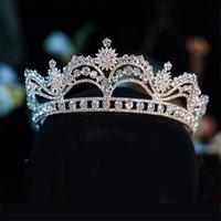 الملكة التيجان تيافا للعروس الزفاف الكريستال حجر الراين اكسسوارات للشعر عقال هيرباند الأميرة بلينغ أشعل غطاء الرأس أزياء رأس المجوهرات