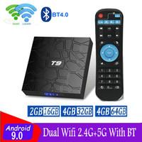 T9 Android 9.0 TV Box Rockchip RK3318 4 Go + 32 Go Wifi double 2.4G + 5G Bluetooth 4.0 caja de Android TV X96 Air