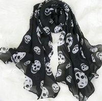 Fantasma Festival Taobao vende forte aura nuova sciarpa di seta dimensioni del cranio accessori della sciarpa nera a due colori WY1453