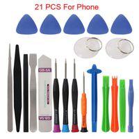 21 in 1 Öffnung Repair Tools Kit Professional Mobile Phone Repair Tool Kit Spudger Schraubendreher-Set für iPhone X 8 7 6S 6Plus 11 Pro XS
