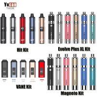 100% original Yocan Evolve Plus XL Magneto Hit Vanne High Herb Cire Vaporisateur Kit 1100 / 1400mAh Batterie Chauffage en céramique Céramique Vape Pen Authentique