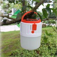 솔라 LED 캠핑 빛 USB 충전식 전구 야외 하이킹 텐트 램프 휴대용 등불 태양 비상 조명