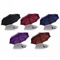 Full-Automatic Umbrella Multi Cores Durable Handle longo de três vezes Negócios Umbrella personalizado Design Criativo Promoção Umbrella DH0053