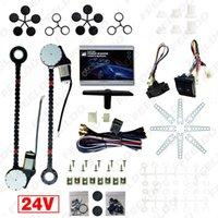 Leewa DC24V Universele Auto / Truck 2-Deuren Elektrische Power Venster Kits 3 stks / set Schakelaars en harnas # 4422