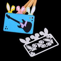 الأرنب الآذان آذان أرنب DIY قطع معدنية وفاة استنسل بطاقة سجل القصاصات الألبوم ورقة النقش الحرف النقش قطع يموت أداة