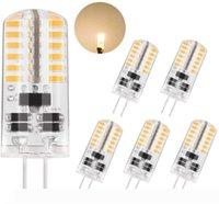 G4 3W LED 순수한 흰색 따뜻한 하얀 빛 ~ 25w 20w에 해당 AC DC 12V 비 조광, T3 할로겐 궤도 전구 교체 LED 전구