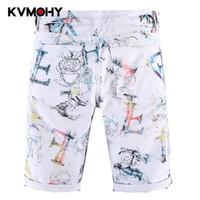 Männer Jeans Männer Weiße Shorts Übergroße Knielange Sommer Lose Hosen Mann Pantalon Homme Jean