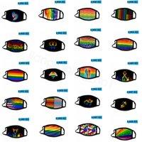 النساء الرجال المثليين قناع قوس قزح الأزياء الطباعة واقية من الغبار تصميم قناع الهواء الطلق resuable قابل للغسل المطبوعة واقية قناع CYF4293-1