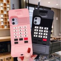 3D 셀룰러 클래식 휴대 전화 케이스 아이폰 11 케이스 11Pro XS 최대 6 7 8 플러스 레트로 보호 안티 셀룰 라이트 소프트 커버