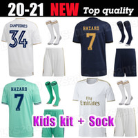 19 20 Real Madrid Soccer Jersey 2019 Jovic MARIANO enfants + chaussette DANGER Modric Sergio Ramos Kroos enfant uniformes ASENSIO CITP football