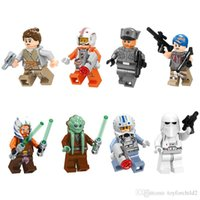 023-030 Space War Rey Luke Skywalker Sabine Wren Ahsoka Tano Kit Fisto Capitão Jag Snowtrooper Mini Action Figure Building Blocks Toy
