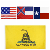 90 * 150cm USA Mississippi State Flag Texas State Flags Gadsden Flaggen USA Polyester Banner Flaggen 4styles RRA3370