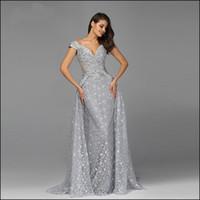 LYRASUE V шеи Ницца аппликация Tailing Королева Серебряный Чудесный бисером Elegent Blink Lady вечерние платья выпускного платья LSE7247
