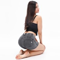 여성 반바지 멜로디 착용 Bum 리프트 셰이프 울트라 바디 슬리밍 셰이퍼면 엉덩이 청바지 짧은 엉덩이 청바지