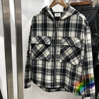 Gestreifte Kapuze Männer Frauen 1 beste Qualität Zipper Sweater