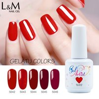 100pcs / lot Gelatu Serie Gelartist Marca di 120 colori 15ml 0,5 oz Nail Art Salon SPA fai da te Soak Off Gel Nail Polish colorato
