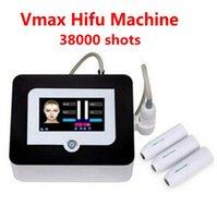 أحدث النتائج الجيدة الوجه رفع مكافحة الشيخوخة عالية الكثافة التركيز الموجات فوق الصوتية إزالة التجاعيد آلة vmax hifu آلة مع 3 خراطيش