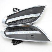 Julho, o rei LED luzes diurnas DRL Case for Volvo S60 V60 2011-2013 LED pára-choques dianteiro Fog Lamp, 1: 1 de substituição