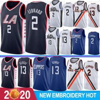 NCAA 2 Kawhi Leonard College Jerseys 13 Paul George LA Clippers Basquete Jerseys Costurado 2019 Novo Basquete S-XXL Stock