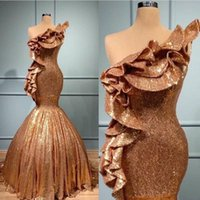 2020 Plus Size Formal Evening Dresses Vestidos De Fiesta African Gold Mermaid Prom Dresses Soiree Cheap robes de soiree