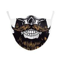 Bandeira Itália Espanha DHL cópia do crânio Máscara continuar lutando máscaras Tecido Adulto Protective PM2 PAW0