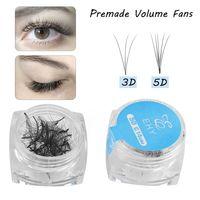 Hot 80 Fans / Box Premade Volume Fan Mink Falso Cílios 3D 5D Lash extensão natural da Longo Falso Semi-Perman Lashes Makeup Tools