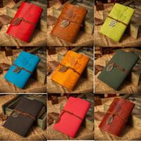 Criativas Blocos Vintage Folha Notepad Loose-leaf Notebook presente mão - realizada Souvenir Faux Leather Paper Journal Notebooks Diário Livros AHC534