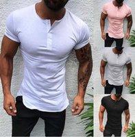 Mens maglietta divendita di Explosive Estate Stile coulisse asole a maniche corte Mens maglietta con 4 colori Asiatica Taglia