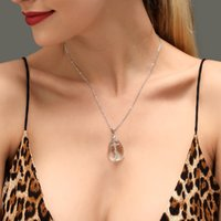 Classic Design Crystal Cross Pendant Necklace For Women Girl...