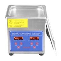 1.3L超音波クリーナーデジタルステンレス鋼のタイマー加熱設定浴槽メタルバスケット洗濯ジュエリーウォッチデンタルCD