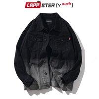 LAPPSTER-jeunes hommes Tie Dye Jeans Vestes Vintage 2020 Mens Harajuku Denim Vestes Manteaux Homme Automne Noir Designer coupe-vent