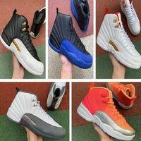 Basketball-Trainer Jumpman 12 Herren-Schuhe 12s FIBA Reverse-Taxi Navy Spiel Royal Bordeaux Dunkelgrau Wntr Michigan Sportturnschuhe Schuhe