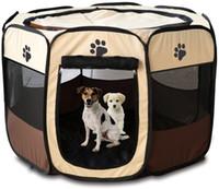 Tienda portable plegable perro de mascota Casa octogonal Jaula para el gato Carpa Parque infantil Operación del perrito de la perrera fácil al aire libre cerca de Big perros de la casa