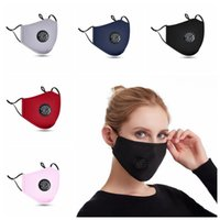 Breathing Valve Face Mask Dustproof Breathable Cotton Protective Mask Unisex Washable Reusable Cycling Masks Without Filter Pad CCA12378