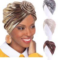 La pérdida del brillo de las mujeres musulmanes cáncer underscarf capo turbante pelo de la cubierta Chemo Cap Turbante Árabe Hat Gorro de Headwear Skullies Fashio