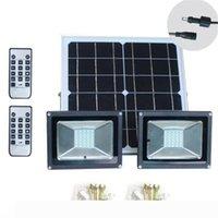 Новые Двухламповая 5W 10W 15W солнечной энергии светодиодный уличный свет Открытый Сад пульт дистанционного управления настенный светильник Прожектор уличный свет