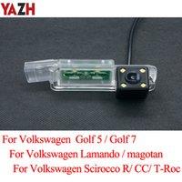 YAZH Rückfahrkamera für Volkswagen Scirocco CC Golf 5 Golf 7 T-Roc magotan Lamando Unterstützungsparken Kamera-LED-Nachtsicht