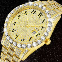 Luxury 18K Gold Watch For Men Full Diamond Wristwatch Waterproof Male Clock Hip Hop Iced Out Quartz Men's Watches