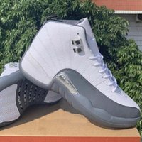 Bon marché 12 12s hommes Jumpman chaussures de basket-ball FIBA arrière Taxi jeu Gym Red Wings hommes gris sneakers sport formateurs